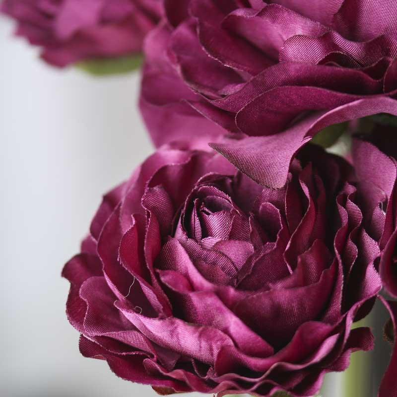 Purple artificial ranunculus bouquet bushes and bouquets