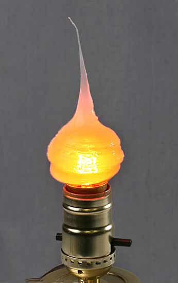 7 1 2 Watt Silicone Golden Orange Flame Bulb Lighting