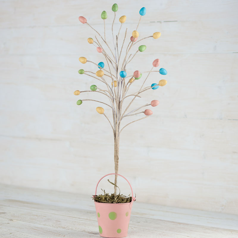 Pastel Easter Egg Tabletop Tree