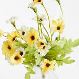 Yellow and Ivory Artificial Daisy Bush