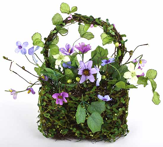 Sweet silk wild flower artificial basket arrangement spring and click here for a larger view mightylinksfo