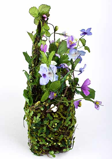 Sweet Silk Wild Flower Artificial Basket Arrangement