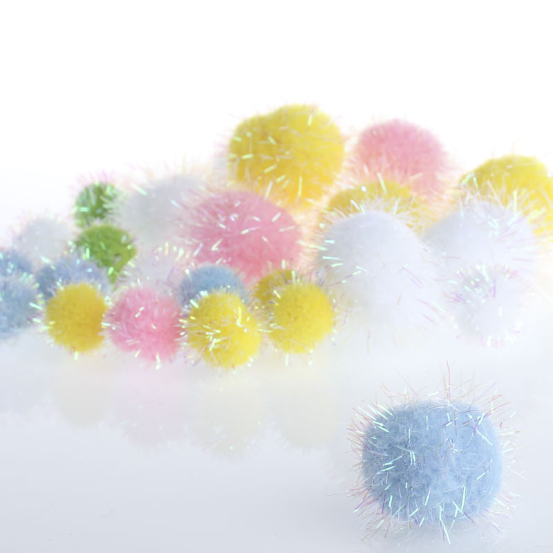 Assorted pastel iridescent craft pom poms craft pom poms for Pom pom crafts