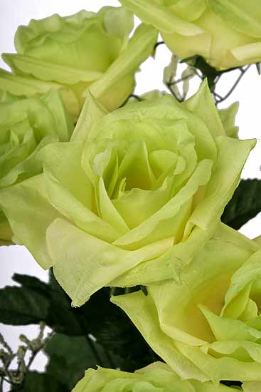 Lime Green Artificial Rose Bush Bushes Bouquets