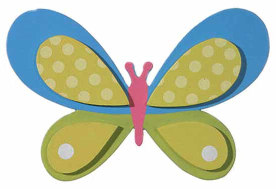 Finished Wooden Butterfly Cutout - Wood Cutouts - Unfinished Wood ...