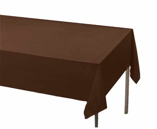 Brown Rectangle Plastic Table Cover Table Covers Table