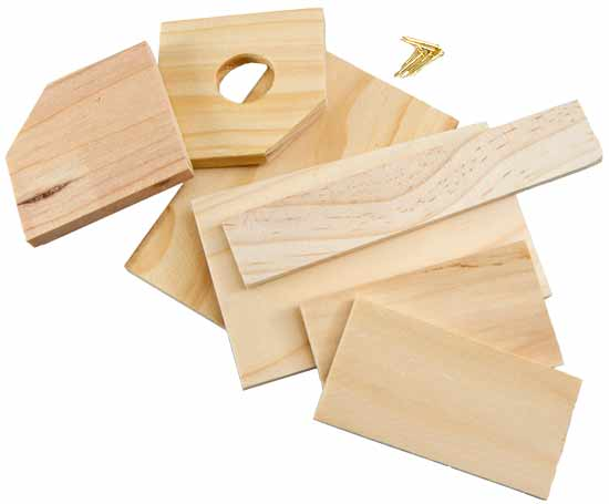 Unfinished wooden birdhouse model kit activity kits for Wood craft supply stores