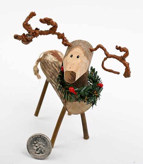 Reindeer Pom Pom Wreath