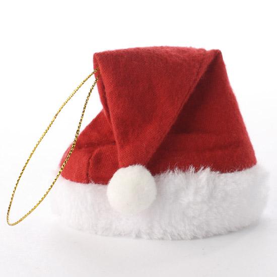 Small fleece santa hat ornament doll hats making