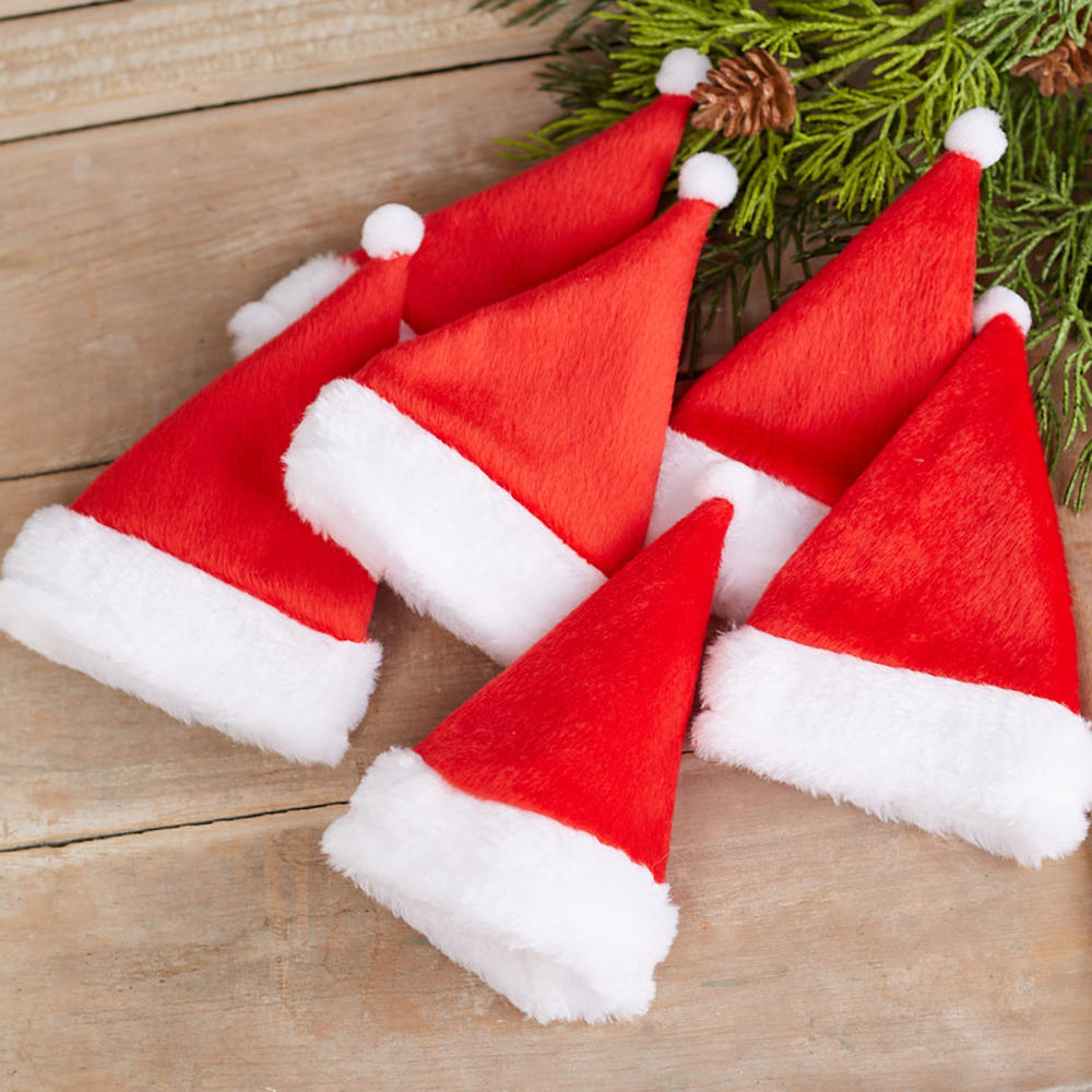 Fleece Santa Hats Holiday Craft Supplies Christmas And