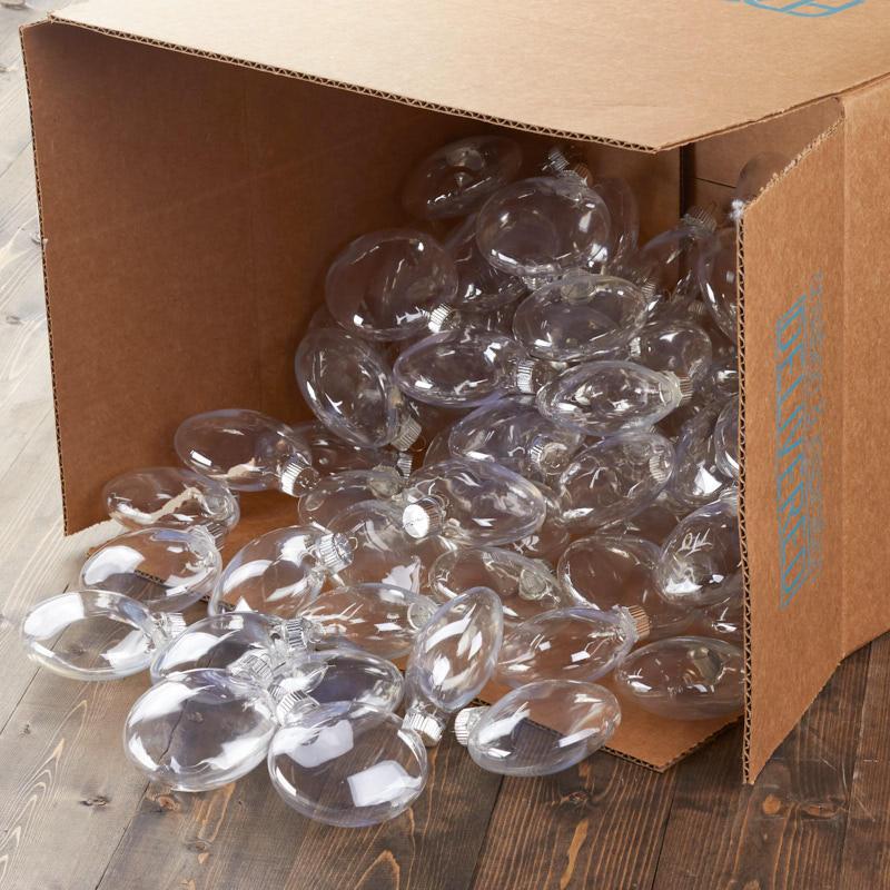 80mm Plastic Disk Ornaments Acrylic Fillable Ornaments