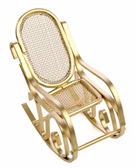 Item# 0003. Picture This Miniature Gold Rocking Chair ...