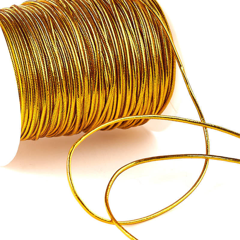 Gold Metallic Elastic Cord Wire Cord Jewelry Making Craft