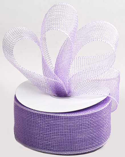 23 8 Lavender Decorative Mesh Ribbon 25 Yard Spool Poly Mesh Sinamay