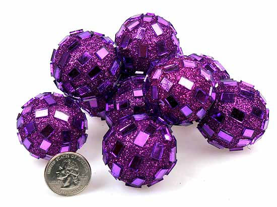 Purple Decorative Balls Entrancing Purple Mirrored Disco Balls  Vase Fillers  Table Scatters Design Decoration