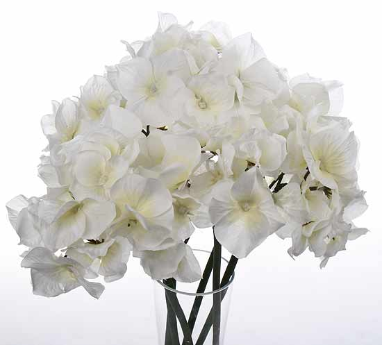 White artificial hydrangea bouquet picks and stems floral click here for a larger view mightylinksfo
