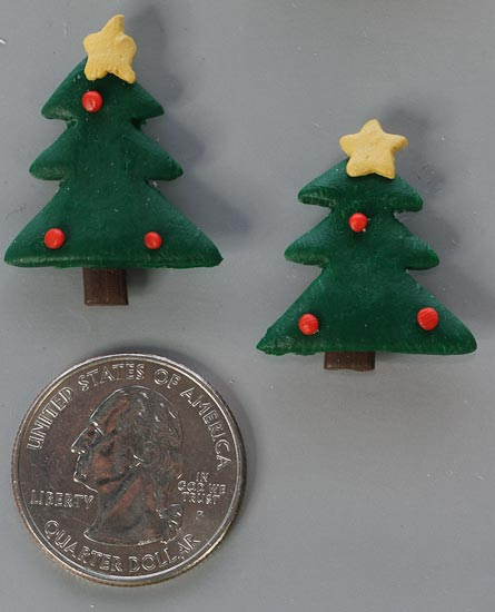 Clay christmas tree holiday accents scrapbooking craft