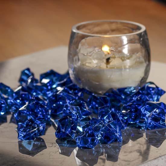 Dark Blue Acrylic Ice Rock Gems Vase Fillers Table Scatters