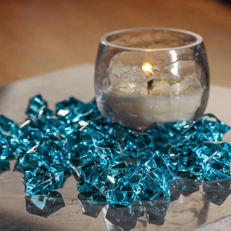 Turquoise Acrylic Ice Rock Gems Vase Fillers Table Scatters