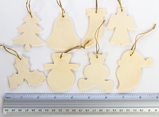 pkg 24 unfinished wood christmas ornaments assortment wood cutouts wood crafts hobby craft supplies