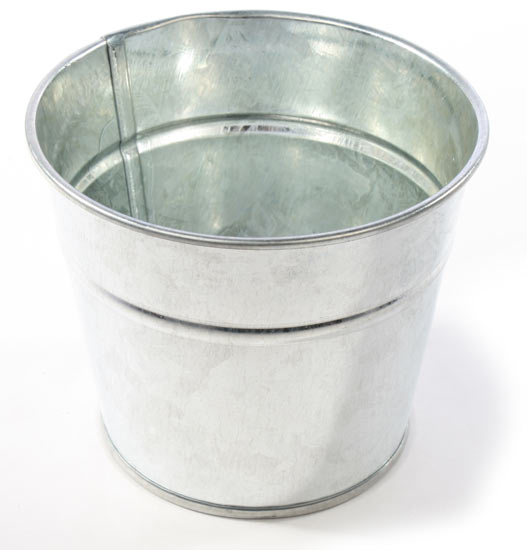 small galvanized metal bucket baskets buckets boxes