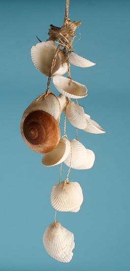Nautical Seashell Hanging Wind Chime Coastal Decor