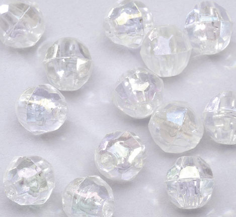 clear faceted acrylic jewelry