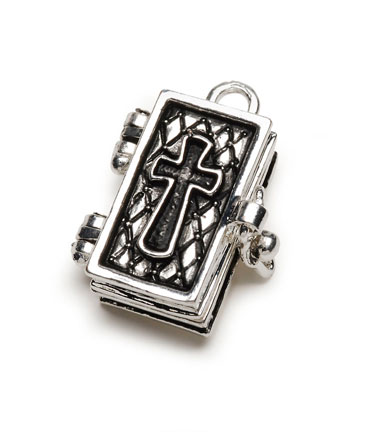 Secret keeper prayer box pendant charms pendants jewelry click here for a larger view aloadofball Gallery
