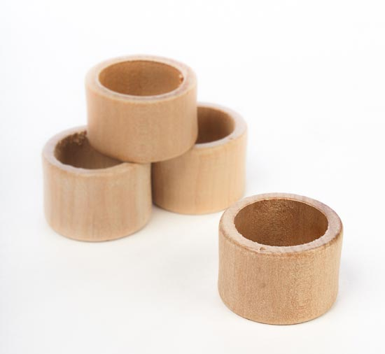 Unfinished Wooden Napkin Rings Kitchen Utensils