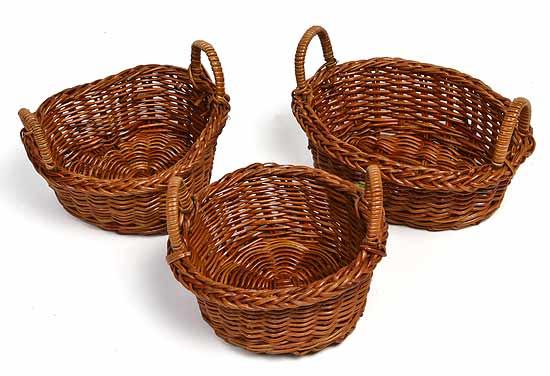 Set Of 3 Assorted Fern Mini Baskets Baskets Buckets Boxes