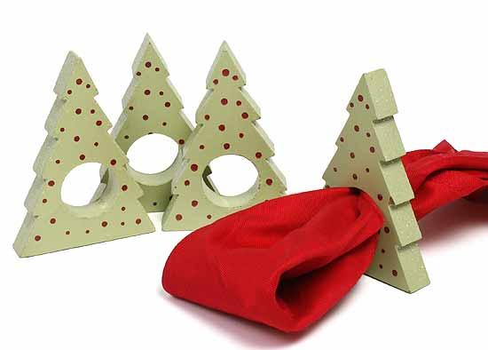 Oh Christmas Tree Napkin Rings Table Decor Christmas