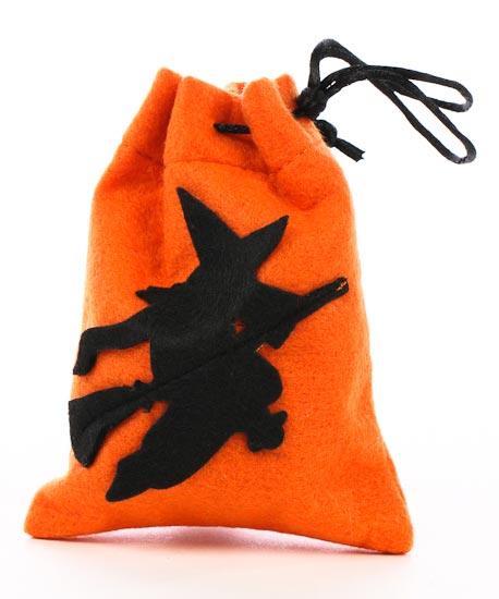 Felt Halloween Witch Drawstring Bags - Bags - Basic Craft Supplies ...