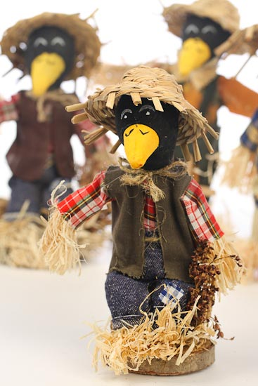 Fall Halloween Crow Scarecrow Table Decor Fall And Thanksgiving Holiday Crafts