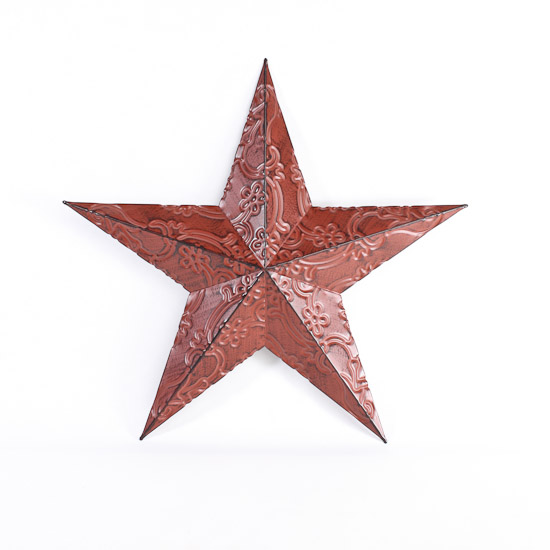 Red Star Wall Decor : Red metal embossed barn star wall decor home