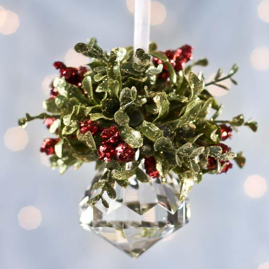 Mistletoe Ball Decoration Amazing Christmas Mistletoe Hanging Acrylic Faceted Kissing Ball Decorating Inspiration