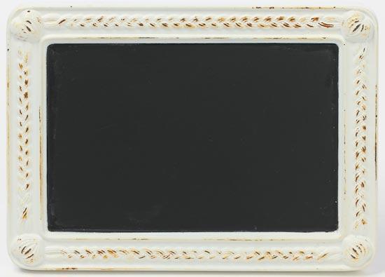 Distressed Shabby Chic White Tin Frame Mini Chalkboard - Mini ...