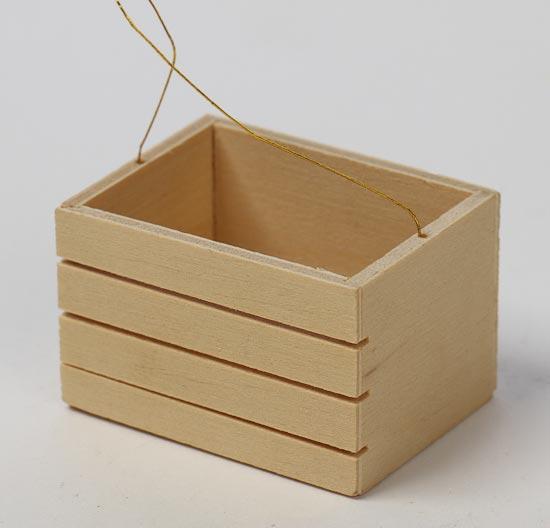 Mini wooden crates 6pcs fairy garden miniatures for Craft crates