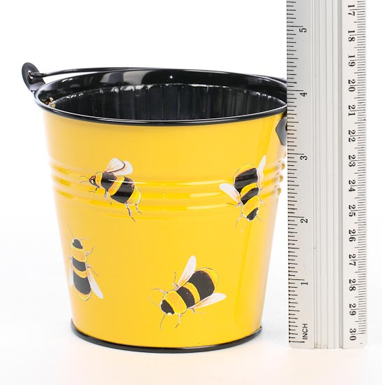 Metal Bumble Bee Pail