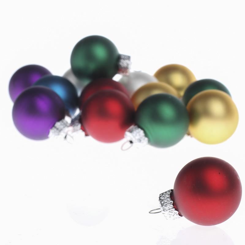 miniature assorted glass ball ornaments