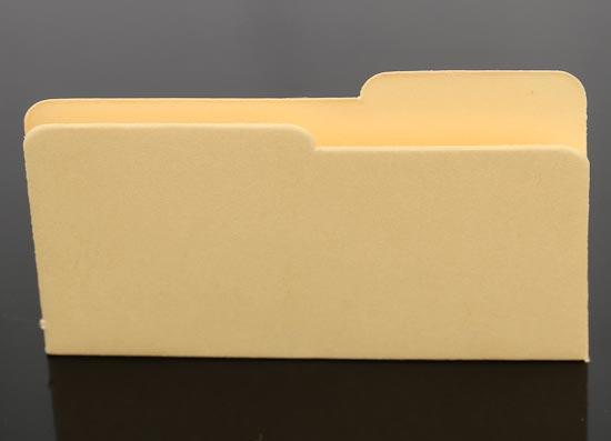 Item 01918 6 Tiny Mini Micro Manila File Folders