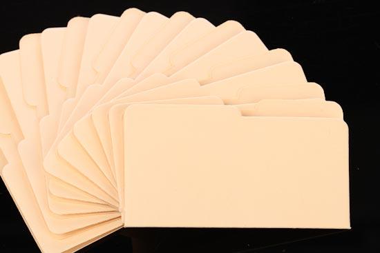 Mini Micro Manila File Folders