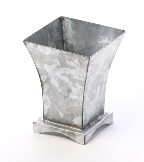 Small Galvanized Metal Flower Vase Baskets Buckets Boxes