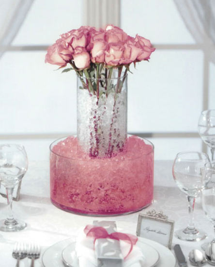 Crystal Rose Water Storing Crystal Accents Vase Fillers Table
