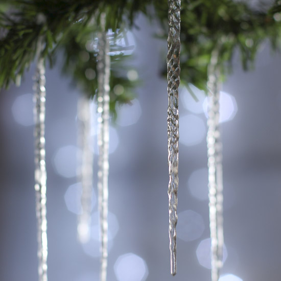 Christmas Decorations Icicle Ornaments: Crystal Clear Acrylic Icicle Ornaments