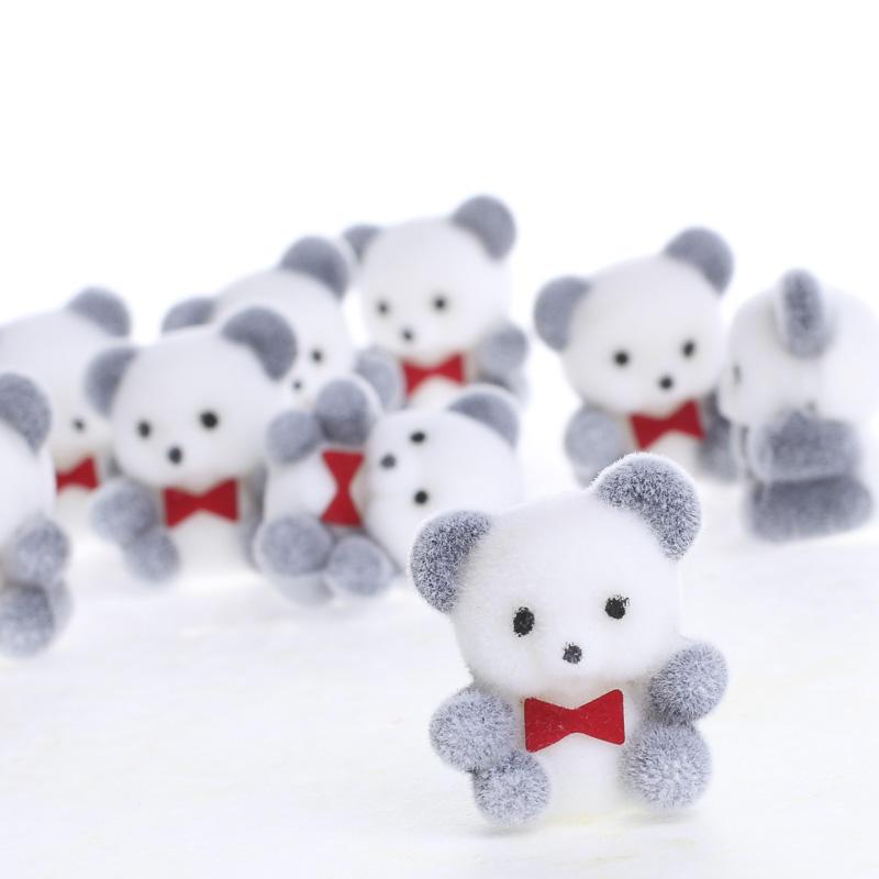 Miniature Flocked Baby Panda Bears Miniatures View All