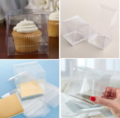 Clear Wedding Favor Boxes on Clear Cupcake Boxes   Package Of 12   Favor Boxes And Bags   Wedding