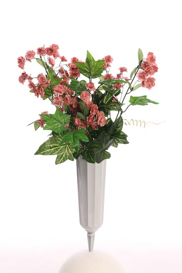 Stone Plastic Fluted Cemetery Vase Floral Design Accessories