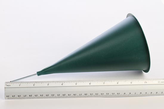 Green Plastic Cone Cemetery Vase Floral Design Accessories