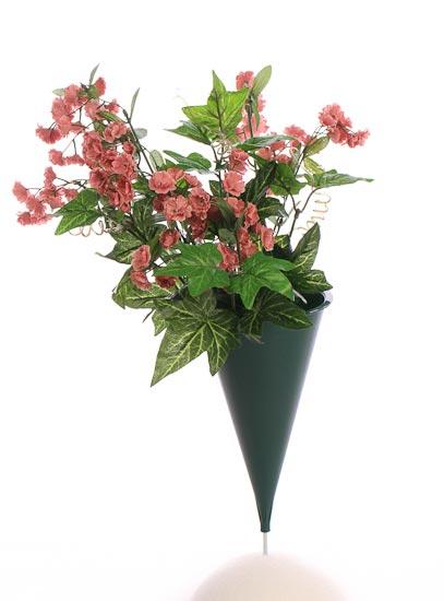 Green Plastic Cone Cemetery Vase Floral Design Accessories Floral Supplies Craft Supplies