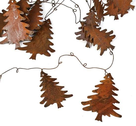 Rusty tin christmas tree garland christmas garlands for Garland christmas tree craft